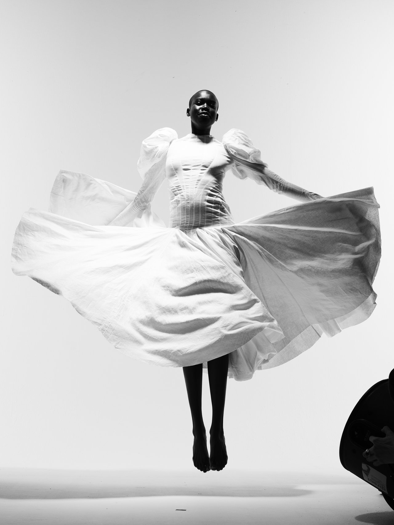 Akuac Thiep photographed by Nick Knight in Alexander McQueen Spring 2020 by Sarah Burton